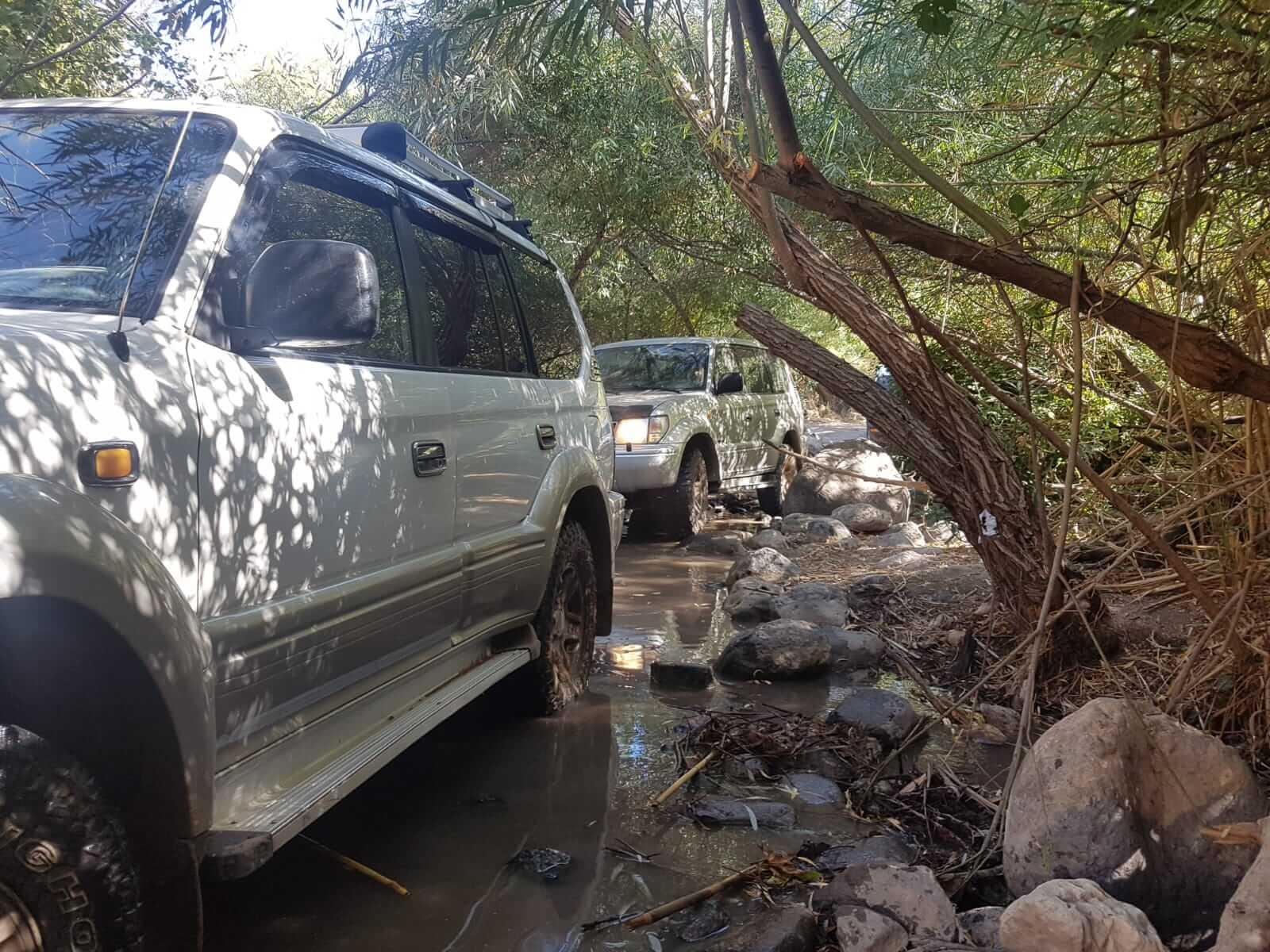 מסלול מים לטיול ג'יפים